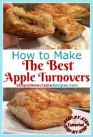 Want an insanly delicious dessert that is simple to make? These apple turnovers are made with puff pastry and an easy apple filling. When this pastry is baked in the oven, watch it puff up into unbelievable buttery flaky pastry. This is the best recipe that I have made yet.