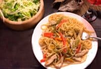 Easy chicken fajita pasta recipe