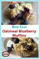 healthy oatmeal blueberry muffins