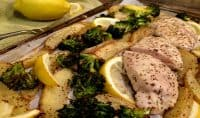 Easy Lemon Chicken Broccoli Sheet Pan Dinner-Recipe Tutorial