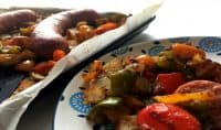 Pepperpot Sausage Sheetpan Dinner-Easy Prep, Easy Cleanup