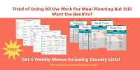 meal plans for busy moms