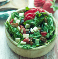 The Best Dressing Ever For Strawberry Spinach Salad
