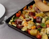 Sausage and Vegetable Sheetpan Dinner