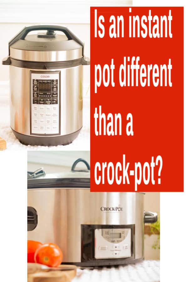 Is an instant pot different than a crock-pot?