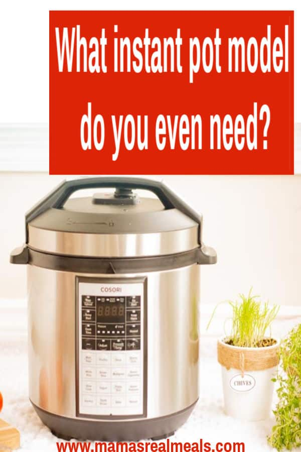 now that you decided you wanted to get an instant pot, what model are you supposed to get? What's the difference between instant pot models? What will work best for you family? Read the blog post to find out which one you really need!