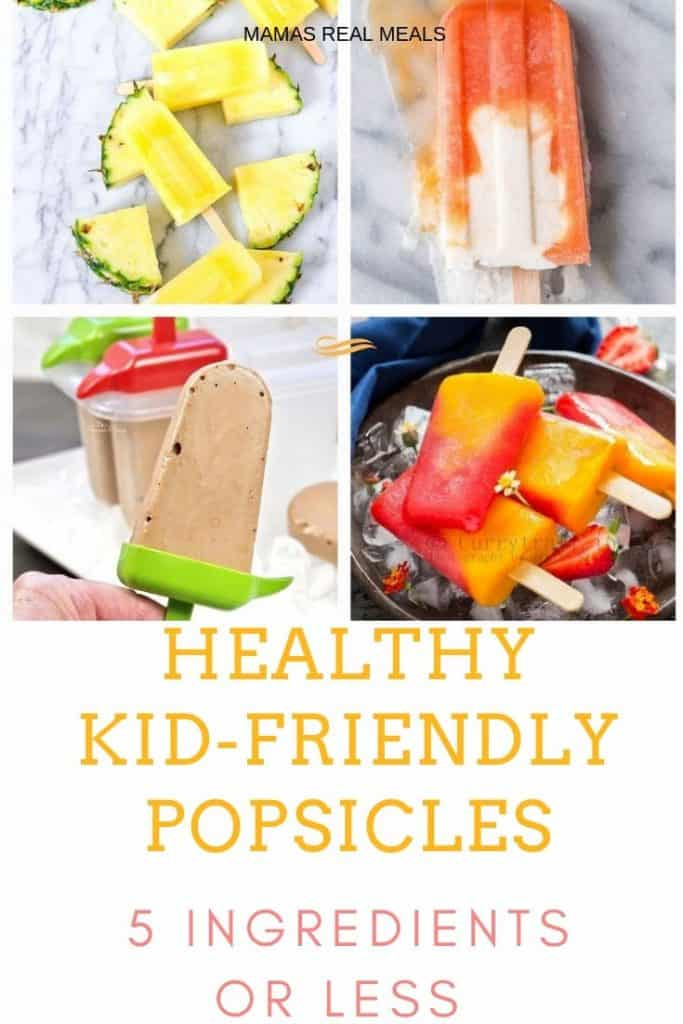 An easy way to get kids to cool down this summer AND get in a healthy snack! These homemade popsicle all have less than 5 ingredients and are super kid friendly!