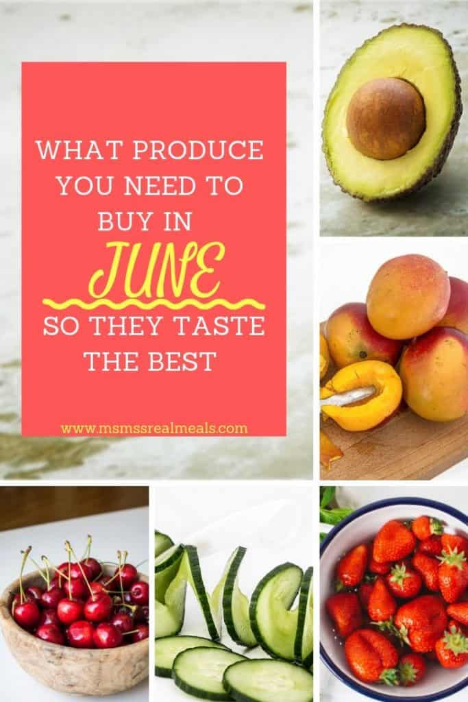 Wondering what fruit and vegetables are in season in June? Check out this seasonal produce guide to help you decide what you need to buy now so that they taste the best!