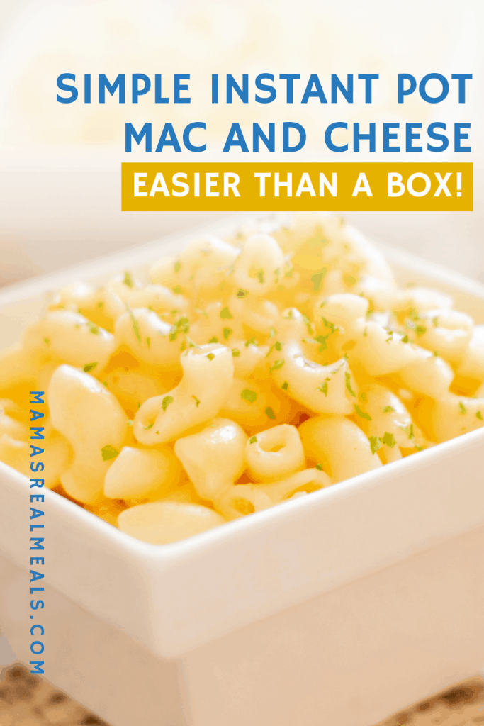 how to make a basic macaroni and cheese in the instant pot, it's actually easier than the box! Plus it uses just your basic ingredients so it comes together super fast.