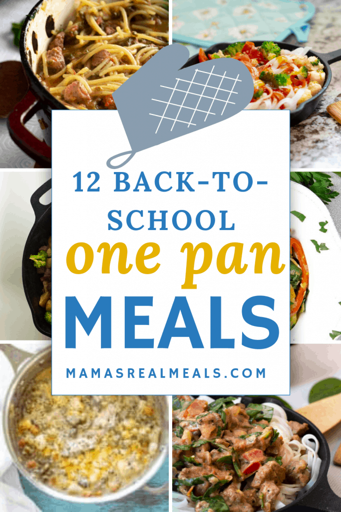 this list of  back-to-school one pot  dinners to hopefully make this transition easier for us, and for you! With all these meals made in one-pot you really still can get a homemade meal on the table!