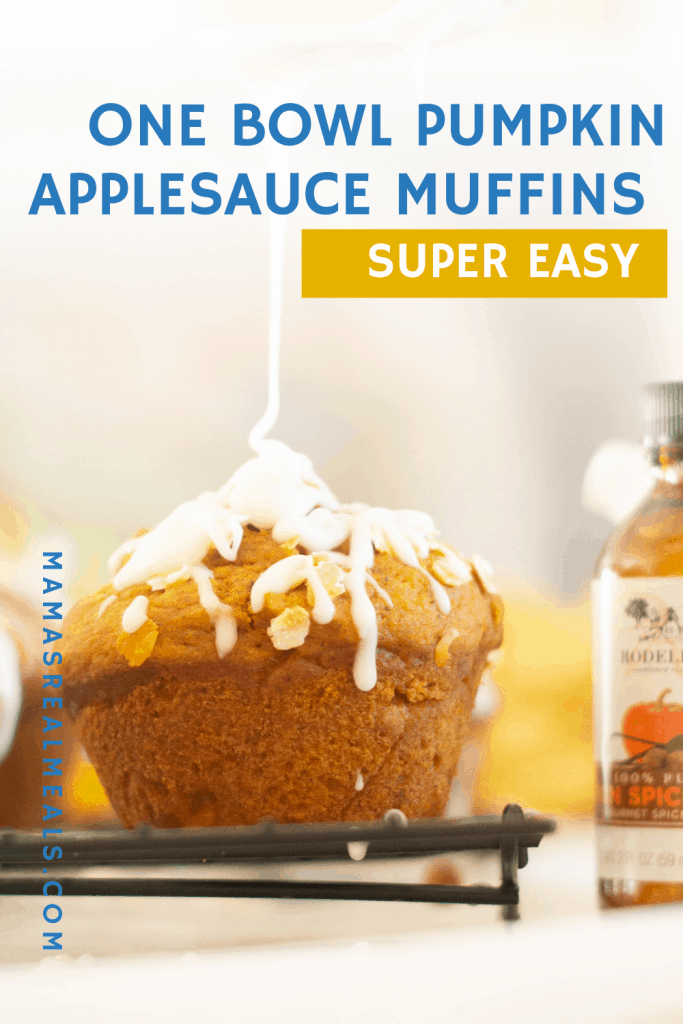 Need an on the go easy breakfast? This simple applesauce and pumpkin muffin will even get that picky eater eating!